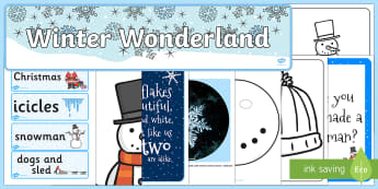 Winter Wonderland Role Play Pack - ready made, winter, pack