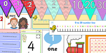 Number and Place Value Display Pack KS1 Year 1 - number, place value, display