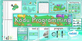Computing: Kodu Programming Year 6 Unit Additional Resources