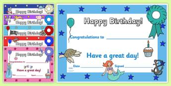 Happy Birthday Posters - ESL Birthday Resources