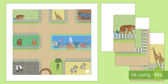 At the Zoo Bee-Bot Mat - EYFS, Early Years, KS1, Key Stage 1, Zoo, Zoo Animals, ICT, Programming, Computing, Understanding th