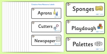 Space Themed Editable Creative Area Resource Labels - Themed creative resource labels, Label template, Resource Label, Name Labels, Editable Labels, Drawer Labels, KS1 Labels, Foundation Labels, Foundation Stage Labels