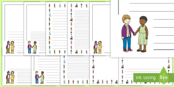 Anti-Bullying Week 2017 First Level Page Border Pack - friendship, bullies, all different, all equal, kindness, discrimination, wellbeing, self-esteem,Scot