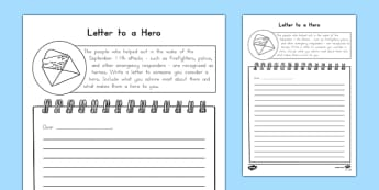 A Hero You Admire Letter