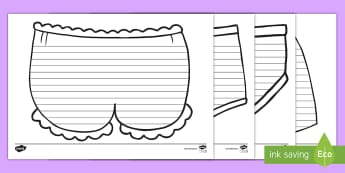 Underpants-Themed Writing Frames - Captain Underpants, Underwear,  Clothes, Literacy, Decorative, Fun, KS1, Key Stage One