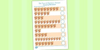 The Tale of Squirrel Nutkin Counting Sheet - squirrel nutkin