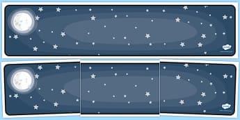 Editable Banner Night Sky - editable banner, banner, editable, night sky, night sky banner, sky banner, night banner, display banner, header, display