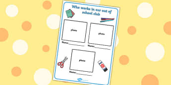 Editable Who Works in Our Out Of School Club Sign - sign, school