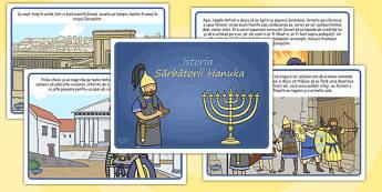 Istoria sărbătorii Hanuka - Poveste ilustrată - istorie, sărbătoare, hanuka, poveste, ilustrate, elemente istorice, materiale, materiale didactice, română, romana, material, material didactic