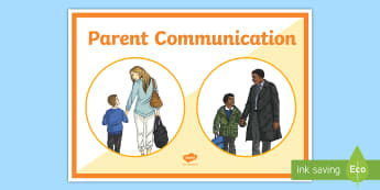 Parent Communication Display Poster - help, advice, wellbeing, health, parents, primary, child development, carers, parents evenings