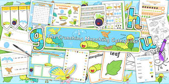 Resource Pack to Support Teaching on The Crunching Munching Caterpillar - stories, books