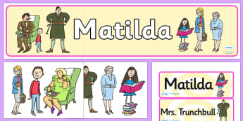 Set-up Displays to Support Teaching on Matilda Resource Pack - New Zealand Chapter Chat, Chapter Chat NZ, Chapter Chat, matilda, roald dahl, story books