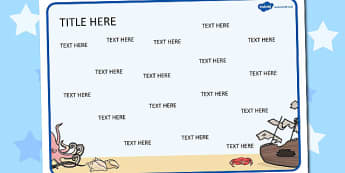Under the Sea Themed Editable Word Mat - under the sea, word mat