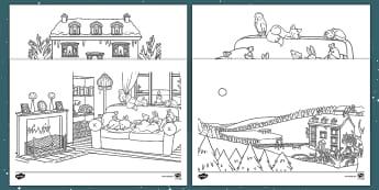 Ten Little Lights Colouring Pages - Twinkl Originals, Fiction, Christmas, Winter, Snow, Cold, EYFS, KS1, Seasons