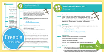 KS2 Take It Outside Maths Activity - Forest School, Woodland and Outdoor Learning, outdoor, outdoor classroom, learning, outdoor learning, outdoor, woodland learning, twinkl outdoor and woodland learning owl get it
