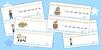 Oliver's Vegetables Alphabet Strips - alphabet, a-z, visual aids