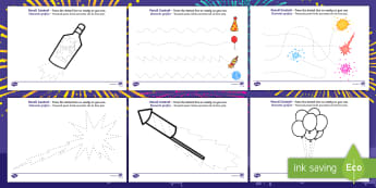 New Years Pencil Control Activity Sheets English/Romanian - new years, pencil control, sheets, pencil, control, pencilcontrol, happynewyear, EAL