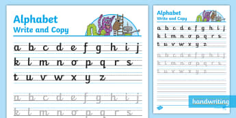The Journey to Cursive Alphabet Write & Copy Activity Sheet - handwriting, letterjoin, nelson handwriting, penpals, trace and copy, LACAWAC, joining, worksheet, handwriting intervention