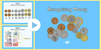 Maths Intervention Recognising British Money PowerPoint - SEN, special needs, maths, money, counting money, recognising money, adding money, coins, notes