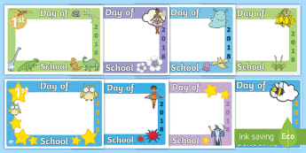 First Day of School 2018 Photo Booth Frame Cut-Outs Resource Pack - Back to school, frame, photo booth, props,