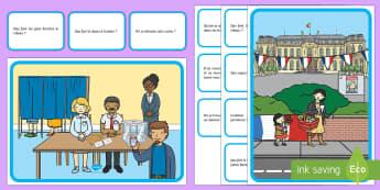 Lecture d'images : les élections Feuille d'activités - les élections, elections, bureau de vote, polling station, électeurs, electors, cycle 1, EYFS, cyc