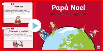 Presentación: Papá Noel alrededor del Mundo  - Navidad, presentación, papá noel en el mundo, santa claus, español