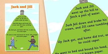 Jack and Jill Nursery Rhyme Poster - rhymes, display, songs