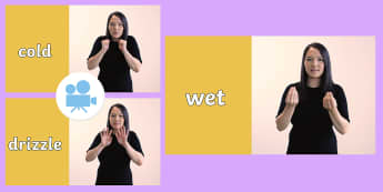 Weather in British Sign Languauge (BSL) Video - British Sign Language, BSL, Deaf-Friendly, Learn Sign Language, weather signs, weather bsl, how to s