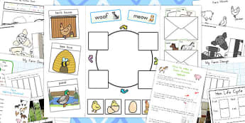 Farm Animals Lapbook Creation Pack - australia, lapbooks, farm