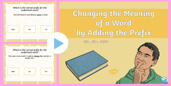 Changing the Meaning of a Word By Adding the Prefix Non Co or Ex PowerPoint - prefix, co, non, re, PowerPoint, quiz, spelling, word meaning, grammar, vocabulary, word work,