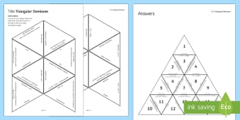 Reactions of Acids Tarsia Triangular Dominoes - Tarsia, gcse, chemistry, acids, acid, reaction, reactions, chloride, sulphate, nitrate, redox, oxida, plenary activity