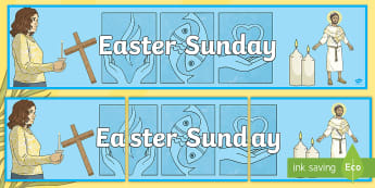 * NEW * Easter Sunday Display Banner - lent. holy week, religion, students, primary, resources, educational, teacher, jesus, resurrection