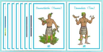Maori Gods Display Posters - nz, new zealand, Maori Gods, posters