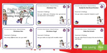 Building Brick Advent Challenge Cards - Christmas, Lego, Technology, Christmas Activities, STEM,Scottish