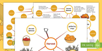 Differentiated Harvest Concept Maps Worksheet / Activity Sheet