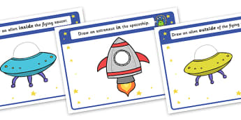 Alien Positional Language Activity Sheets - worksheets, worksheet, work sheet, positional language, language, language worksheets, positional worksheets, positions, positions worksheets, sheets, activity, writing frame, filling in, writing activity