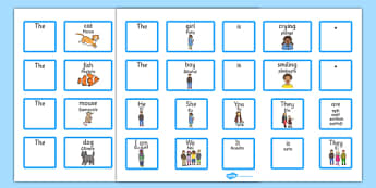 EAL Sentence Builder Cards with Verbs Romanian Translation - romanian, eal, sentence, cards