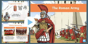 History Hackers: Roman Rescue The Roman Army PowerPoint - legion, legionary, battle, soldiers, weapon, military, empire, create
