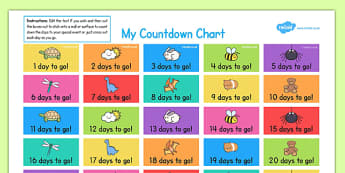 Countdown Chart - countdown chart, countdown, chart, count, down, activity, parents, home education