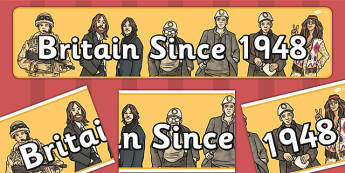 Britain Since 1948 Display Banner - display banner, 1948, britain