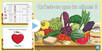Food Opinions Spontaneous Speak PowerPoint - KS2, French, Resources, food, opinions, speaking, reasons, likes, dislikes, speak, oral, PowerPoint
