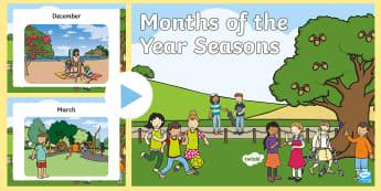 Australian Months of the Year Seasons PowerPoint - Months Of The Year Seasons Posters, month, year, season, weather, waether, months of the yearenglish
