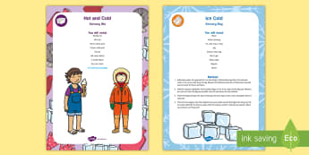 Hot and Cold Sensory Bin and Resource Pack - Early Concepts, ice, frozen, heat