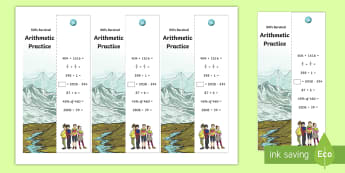 SATs Survival: Year 6 Arithmetic Practice Maths Bookmarks Pack 1  - sats survival, year 6 sats, y6 sats, sats revision, sats home learning, sats home practice, arithmet