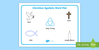 Christian Signs and Symbols Word Mat - sign, christianity
