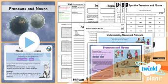 PlanIt Y4 SPaG Lesson Pack: Pronoun or Noun? - planit, spag, lesson, pronoun, noun
