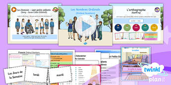 French: Let's Visit a French Town: Ordinal Numbers Year 6 Lesson Pack 6