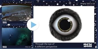 John Lewis 'Through the Eye of' a Different Perspective PowerPoint - Moz The Monster, John Lewis, Christmas 2017, Christmas, Moz, Advert, Imagine, Monster, Monster Under