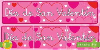 * NEW * Dia de San Valentin Pancarta - Día de los enamorados, enamorados, valentin, san valentin, Valentín, cupido, amor, pancartas, afic