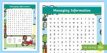 NI Thinking Skills and Personal Capabilities Managing Information Differentiated Word Search - TSPC, Success Criteria, Northern Ireland, Curriculum, Targets